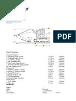 Excavator Sizes Units & Parts