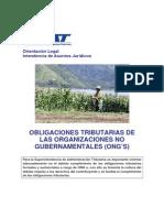 Obligaciones Tributarias de las ONG'S