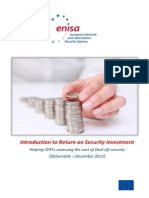 Return on Security Investment