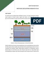 Air Tanah Dan Metode Geolistrik Resistivitas