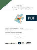 Evaluación de Políticas y Programas Públicos Destacados en Argentina
