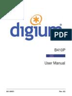 Digium B410P User Manual