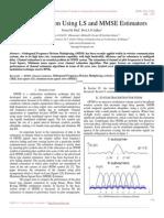 Channel Estimation Using LS and MMSE Estimators