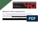 Application Teacher Employment