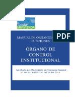 PLAN 10029 Manual de Organización y Funciones Del Organo de Control Interno Del FMV. 2013