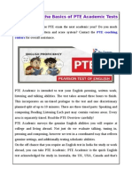 Understand the Basics of PTE Academic Tests