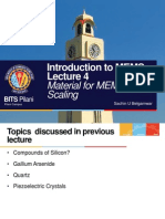 Introduction to MEMS Lecture 4