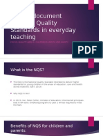 how to document national quality standards in everyday