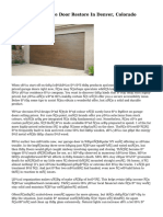 Professional Garage Door Restore In Denver, Colorado