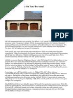 Garage Door Repair On Your Personal