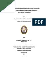 Penyelesaian Kredit Macet Dengan Hak Tanggungan Pada Pt. Bank Pembangunan Daerah Sumatera Selatan Di Palembang