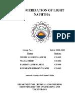 Isomerization of Light Naphtha Full and Final