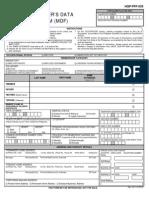 Member's Data Form (Mdf, Hqp-pff-039, V04.1)