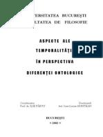 Aspecte Ale Temporalitatii in Perspectiva Diferentei Ontologice [PDF]