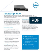 Dell PowerEdge R220 Spec Sheet