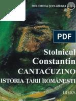 Cantacuzino C-tin - Istoria Tarii Romanesti (Tabel Crono)