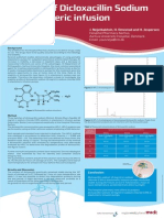 Poster Stability of Dicloxacillin Sodium in Elastomeric Infusion Punps