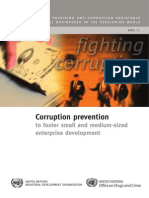 Corruption Prevention to Foster Small and Medium-sized Enterprise Development