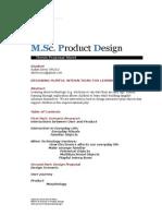 MScPD1415_ThesisProposalSheet