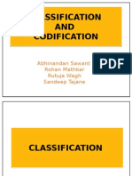 Classification and Codification