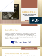 Microsoft 70-410 Certification Exam Sample Questions