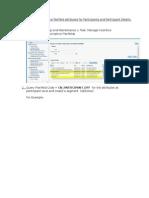 How to Enable Descriptive Flexfield Attributes for Participants and Participant Details