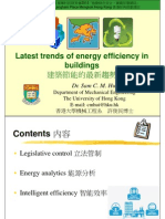 Latest trends of energy efficiency in buildings 建築節能的最新趨勢
