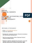 Maf702 Financial Markets School of Accounting, Economics