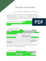 TEMA 1 Introducción a La Psicología (Apuntes)