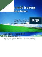 Bài giảng Ô nhiễm môi trường