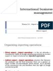 2.1. Export Entry Modes - Direct Export Operations