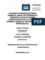 Desempleo y Democracia en Capital Federal (Argentina 1983-2013)