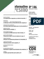 INFORMATIVO CAMPESINO - 186 - MARZO 2004 - CDE - PORTALGUARANI