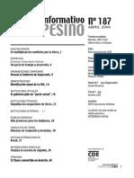 INFORMATIVO CAMPESINO - 187 - ABRIL 2004 - CDE - PORTALGUARANI