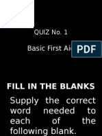 Basic first aid quiz