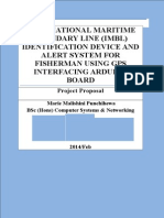 INTERNATIONAL MARITIME BOUNDARY LINE (IMBL) IDENTIFICATION DEVICE AND ALERT SYSTEM FOR FISHERMAN USING GPS INTERFACING ARDUINO BOARD