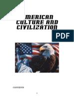 Cultura Si Civilizatie Americana