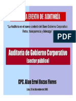 Auditoria de Gobierno Corporativo