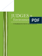 Judges Environmental Law a Handbook for the Sri Lankan Judiciary