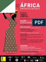 Cartel de las Jornadas África Imprescindible 2015 (castellano)