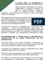 Recomendaciones Metodológicas Para La Distribución y Dosificación de Las Cargas