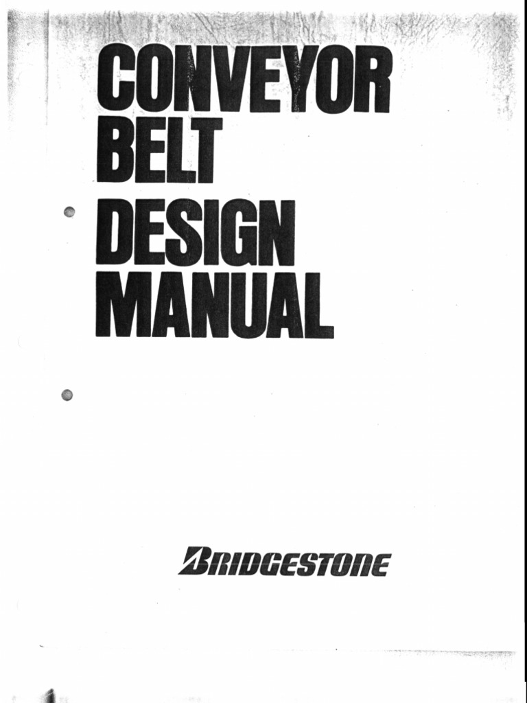Contitech Conveyor Belt Design Manual Pdf