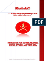 Guide for Veterans - Indian Army