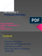 Lab Activity 4 Polysaccharides