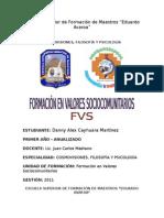 Formación en Valores Sociocomunitarios (FVS)