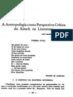 A Antropofagia Como Perspectiva Crítica Do Kitsch