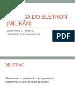 A Carga Do Elétron (Milikan)