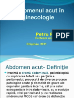 Abdomen Acut În Ginecologie p. Roșca Chisinau