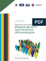Вршење дејност од граѓанска организација – прирачник за економски активности
