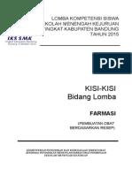 Kisi Kisi Farmasi Lks Tingkat Kabupaten 2015